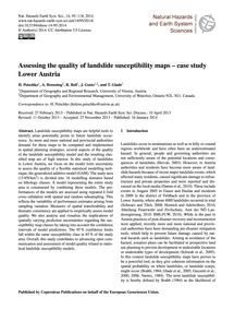 Assessing the Quality of Landslide Susce... by Petschko, H.