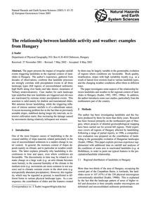 The Relationship Between Landslide Activ... by Szabó, J.
