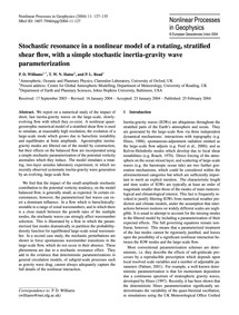 Stochastic Resonance in a Nonlinear Mode... by Williams, P. D.