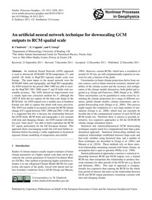 An Artificial Neural Network Technique f... by Chadwick, R.