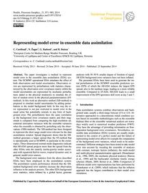 Representing Model Error in Ensemble Dat... by Cardinali, C.