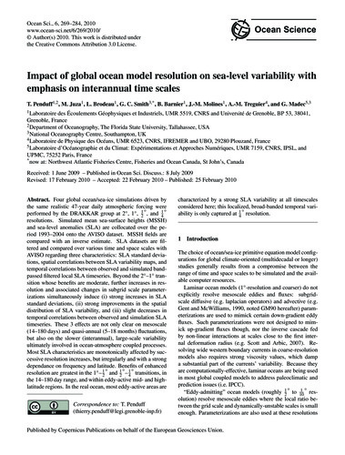 Impact of Global Ocean Model Resolution ... by Penduff, T.