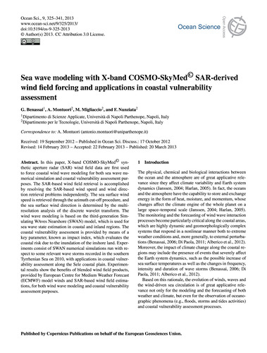 Sea Wave Modeling with X-band Cosmo-skym... by Benassai, G.
