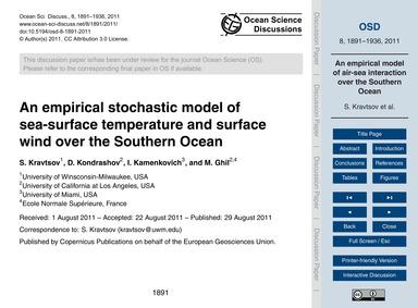An Empirical Stochastic Model of Sea-sur... by Kravtsov, S.