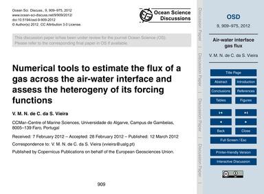 Numerical Tools to Estimate the Flux of ... by V. M. N. De C. Da S. Vieira