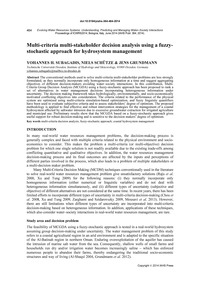 Multi-criteria Multi-stakeholder Decisio... by Subagadis, Y. H.