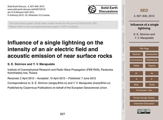 Influence of a Single Lightning on the I... by Smirnov, S. E.