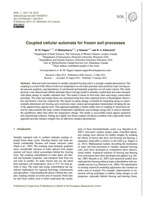 Coupled Cellular Automata for Frozen Soi... by Nagare, R. M.