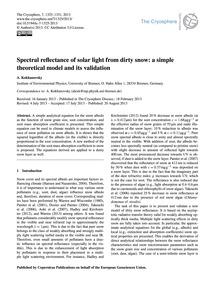 Spectral Reflectance of Solar Light from... by Kokhanovsky, A.