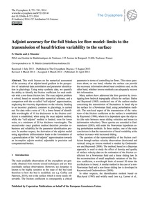 Adjoint Accuracy for the Full Stokes Ice... by Martin, N.