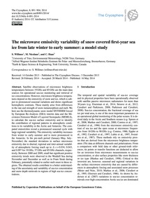 The Microwave Emissivity Variability of ... by Willmes, S.