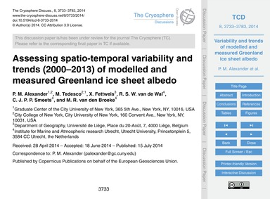 Assessing Spatio-temporal Variability an... by Alexander, P. M.