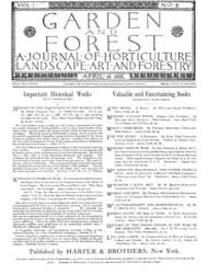 Garden and Forest Volume 1 Issue 8 April... by Charles S. Sargent
