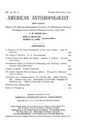 American Anthropologist, 1912 New Series... Volume Vol. 14 by Chibnik, Michael