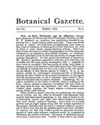 Botanical Gazette : 1882 ; Mar. No. 3 Vo... Volume Vol. 7 by Ruddat, M.