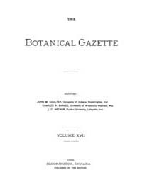 Botanical Gazette : 1892 ; Jan. No. 1 Vo... Volume Vol. 17 by Ruddat, M.