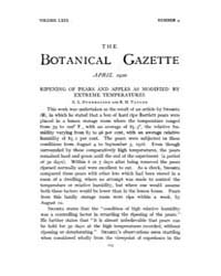 Botanical Gazette : 1920 ; Apr. No. 4 Vo... Volume Vol. 69 by Ruddat, M.