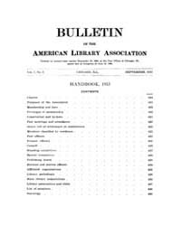 Bulletin of the American Library Associa... Volume Vol. 7 by