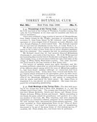 Bulletin of the Torrey Botanical Club : ... Volume Vol. 7 by