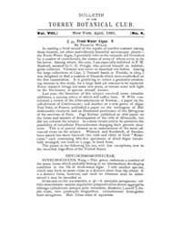 Bulletin of the Torrey Botanical Club : ... Volume Vol. 8 by