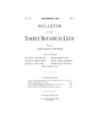Bulletin of the Torrey Botanical Club : ... Volume Vol. 29 by