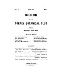 Bulletin of the Torrey Botanical Club : ... Volume Vol. 37 by