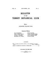 Bulletin of the Torrey Botanical Club : ... Volume Vol. 49 by