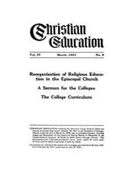 Christian Education : 1921 ; March No. 6... Volume Vol. 4 by Kelsay, John