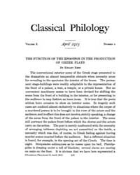 Classical Philology : 1915 ; Apr. No. 2 ... Volume Vol. 10 by Asmis, Elizabeth