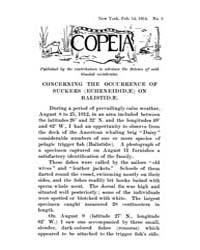 Copeia : 1914 ; Feb. 14 No. 3 Nos. 2 13 by Schaefer, Scott, A.