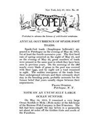Copeia : 1915 ; Jul. 27 No. 20 Nos. 14 2... by Schaefer, Scott, A.