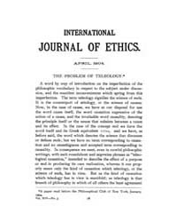 International Journal of Ethics : 1904 A... Volume Vol.14 by Richardson,henry,s.