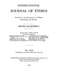 International Journal of Ethics : 1915 O... Volume Vol.26 by Richardson,henry,s.