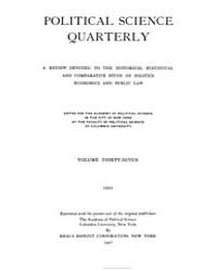 Political Science Quarterly ; Volume 37 ... by