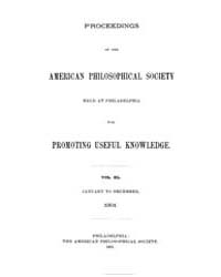 Proceedings of the American Philosophica... by