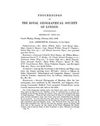 Proceedings of the Royal Geographical So... Volume Vol. 6 by