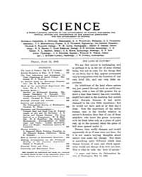 Science ; Volume 15 : No 389 : Jun 13 : ... by