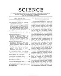 Science ; Volume 21 : No 548 : Jun 30 : ... by