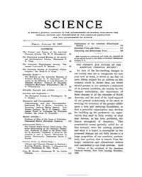 Science ; Volume 25 : No 629 : Jan 18 : ... by