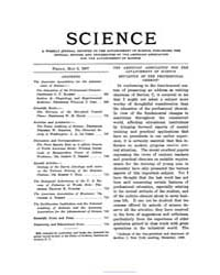 Science ; Volume 25 : No 644 : May 3 : 1... by