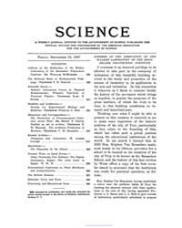 Science ; Volume 26 : No 663 : Sep 13 : ... by