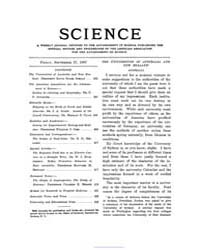 Science ; Volume 26 : No 665 : Sep 27 : ... by