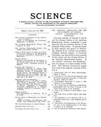Science ; Volume 27 : No 683 : Jan : 31 ... by