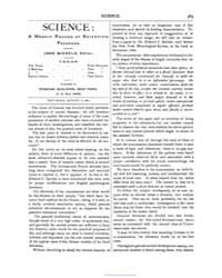 Science ; Volume 2 : No 58 : Aug 1881 by