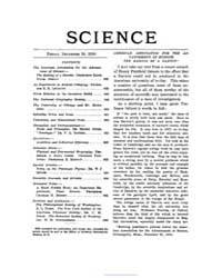Science ; Volume 32 : No 835 : Dec 30 : ... by