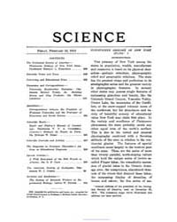 Science ; Volume 37 : No 946 : Feb 14 : ... by