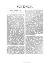 Science ; Volume 4 : No 92 : Nov 7 : 188... by