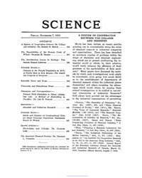 Science ; Volume 50 : No 1297 : Nov 7 : ... by