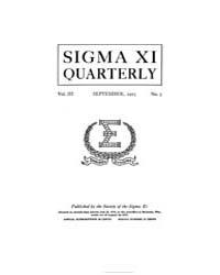 Sigma Xi Quarterly, Vol. 3, No. 3, Sep. ... Volume Vol. 3 by
