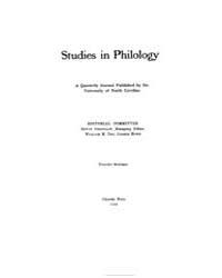 Studies in Philology, Vol. 16, No. 1, Ja... Volume Vol. 16 by